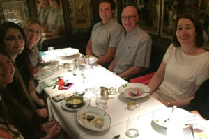LIYSF students have dinner with Professor Ada Yonath