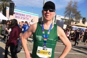 Graham takes on the Tel Aviv Half Marathon for Weizmann